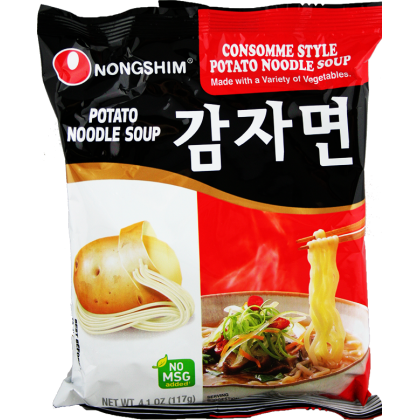 Potato Instant Noodle Soup
