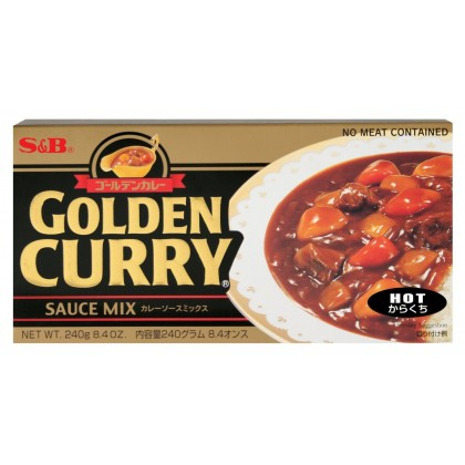 S&B Hot Golden Curry - 240 g