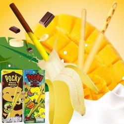 Pocky 2 pcs Mango-Chocolate Banana Flavour
