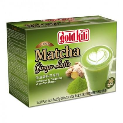 Instant gyömbéres Matcha zöld teás Latte