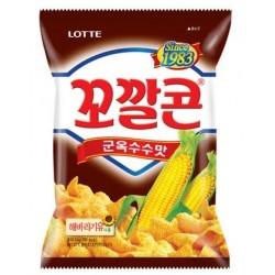 LOTTE BBQ Flavor Corn Snack