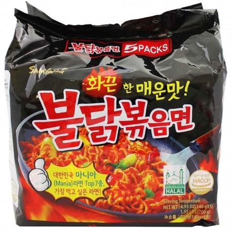 Samyang csípős és fűszeres instant tészta csomag (csirkés)