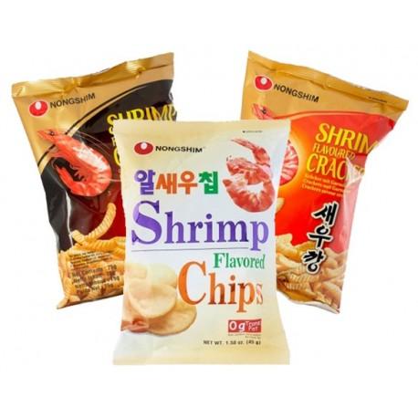 Garnélarák ízesített chips