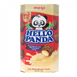Hello Panda Chocolate and Milk Cream Biscuits