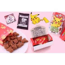 Pikachu alakú csokis keksz matricával