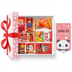 Piros karácsonyi ajándékcsomag