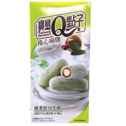 Green Tea Red Bean Mochi Roll