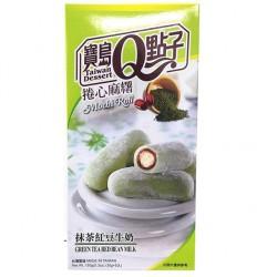 Zöld teás mochi tekercs