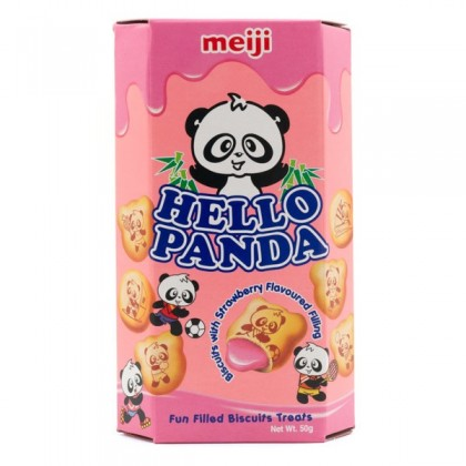 Hello Panda Strawberry Cream Biscuits