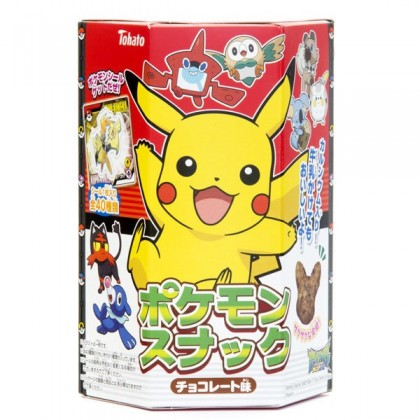 Pikachu alakú csokoládé snack matricával