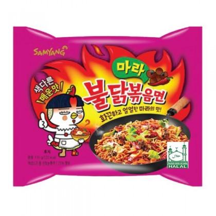 Samyang MALA 4x csípős és fűszeres instant tészta