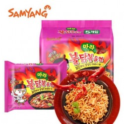 5pcs Samyang Mala Spicy Chicken Ramen Pack