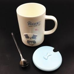 Dog mug blue