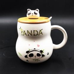 Panda mug heart