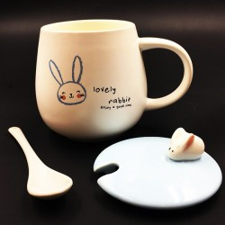 Bunny mug blue