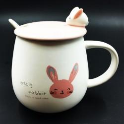 Bunny mug pink