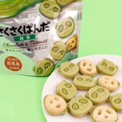 Sakusaku Panda - zöldteás csokis panda keksz
