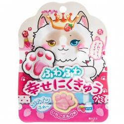 Paw Shaped Strawberry Milk Gummy Candy