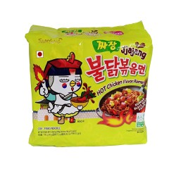 5 pcs Samyang Jjajang Spicy Chicken Roasted Noodles pack