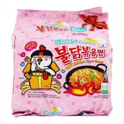 5 pcs Samyang Carbo Spicy Chicken Roasted Noodles pack