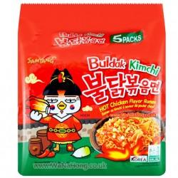 5 db-os Samyang Kimchi csípős és fűszeres instant tészta csomag