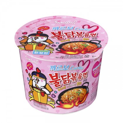 Samyang carbo csípős és fűszeres instant tészta pohárban