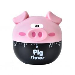 Cute pink pig kitchen timer