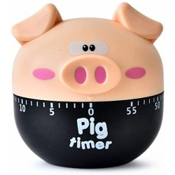 Cute beige pig kitchen timer