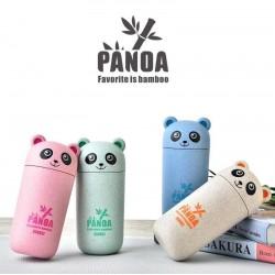 Cute Panda blue drinking cup