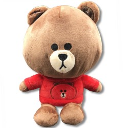 Cute Kuma bear with red hooded sweatshirts