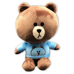Cute Kuma bear with blue hooded sweatshirts