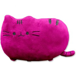 Kawaii purple cat plush pillow - 40 cm