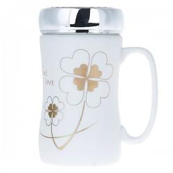 Happiness clover mug with lid