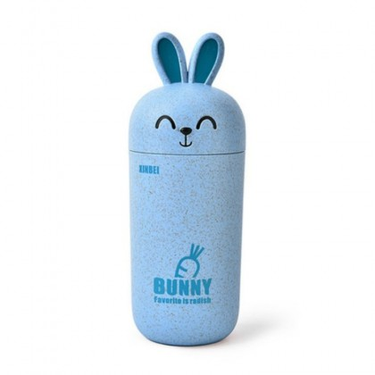Cute Rabbit blue drinking cup