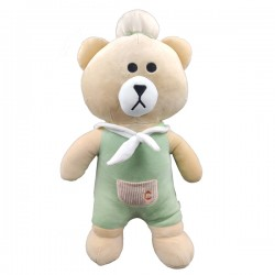 Big Kuma bear in green set - 50 cm