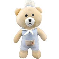 Big Kuma bear in blue set - 50 cm