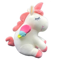Cute unicorn plush with colorful wings - 35 cm