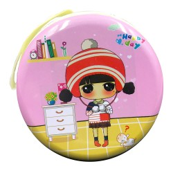 Cute red hat girl coin wallet