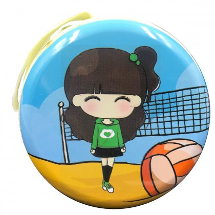 Cute girl with beachball coin wallet