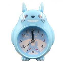 Blue smiley Totoro clock