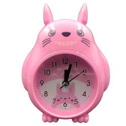 Grey smiley Totoro clock