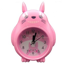 Pink smiley Totoro clock