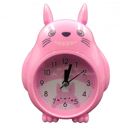 Grey smiley Totoro clock