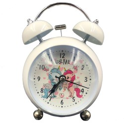 White U&ME unicorn clock