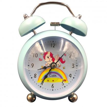 Cute rainbow unicorn clock