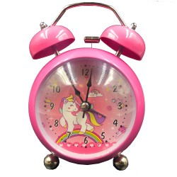 Pink rainbow unicorn clock