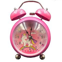 Szivárványos unikornis ébresztőóra pink színben