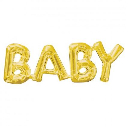Gold Baby subtitle foil balloon