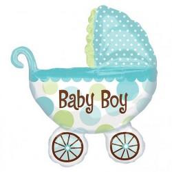 Baby Boy carriage foil balloon