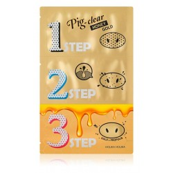 Holika Holika Pig Clear Black Head 3- step kit (Honey Gold)